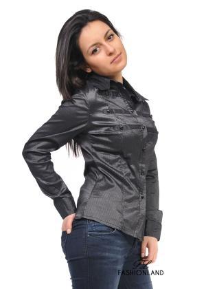 Дамска риза дълъг ръкав - FL
