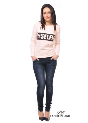 Дамска блуза дълъг ръкав - SELFIE