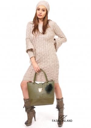 Дамска рокля+шапка+шал
