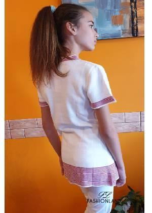 Дамска блуза къс ръкав