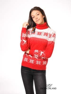 Дамски пуловер поло