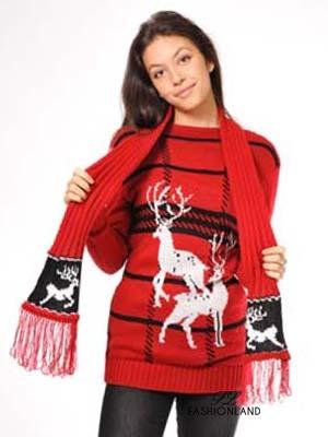 Дамски пуловер с шалче
